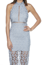 Gemma Halter Dress in colour ASHLEY BLUE