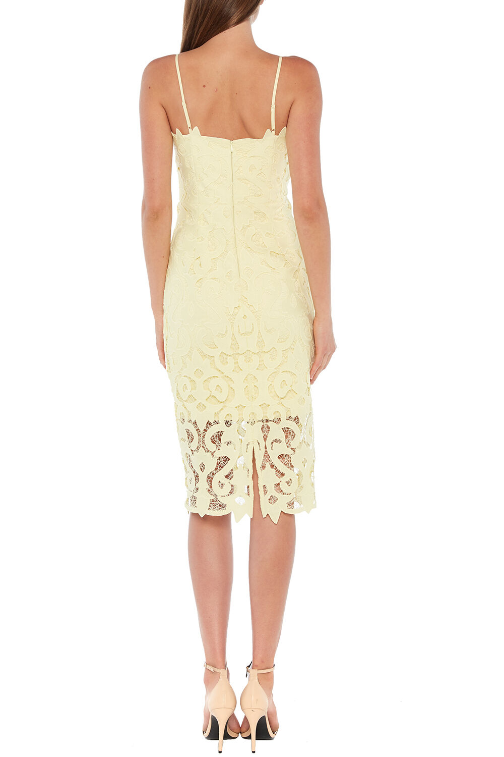 LINA LACE DRESS in colour FRENCH VANILLA