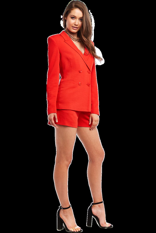 VENICE BLAZER in colour CHERRY TOMATO