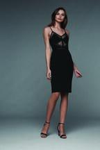 JAYNE LACE DRESS in colour CAVIAR