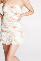 REMI FLORAL DRESS in colour MARSHMALLOW