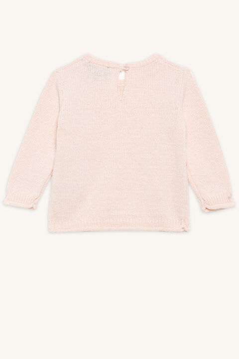 POM POM SWEATER in colour ROSEWATER