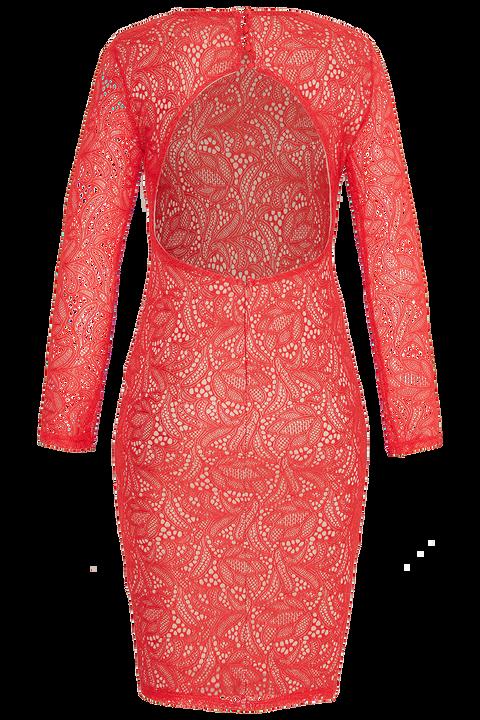RINI LACE DRESS in colour FIESTA