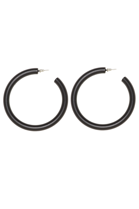 THICK HOOP EARRINGS in colour METEORITE