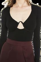 GEMMA BODYSUIT in colour CAVIAR