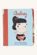 AUDREY BOARD BOOK in colour BRIGHT WHITE