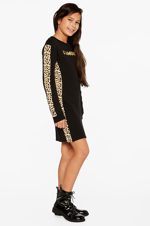 LAMOUR SWEATER DRESS in colour JET BLACK