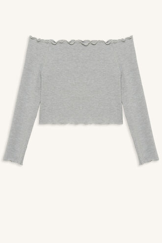 HEART IT LONG SLEEVE TOP in colour MOONBEAM
