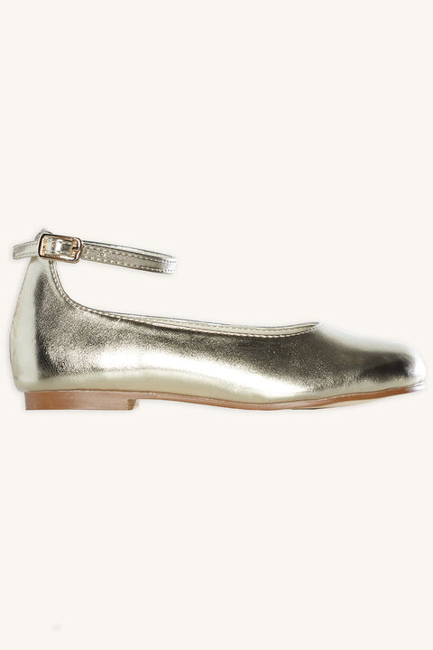 GRACE METALLIC BALLET FLAT in colour GOLD EARTH