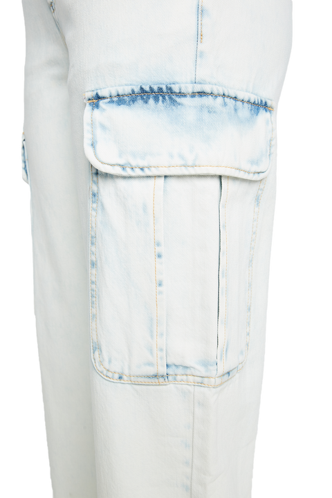 SUPER BLEACH CARGO JEAN in colour PLEIN AIR