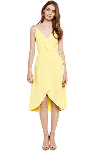 WRAP DRESS in colour POPCORN