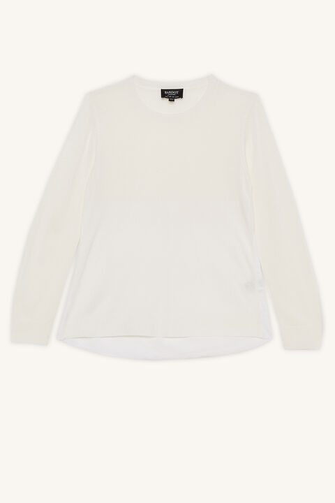 ELORA KNIT TOP in colour WHISPER WHITE