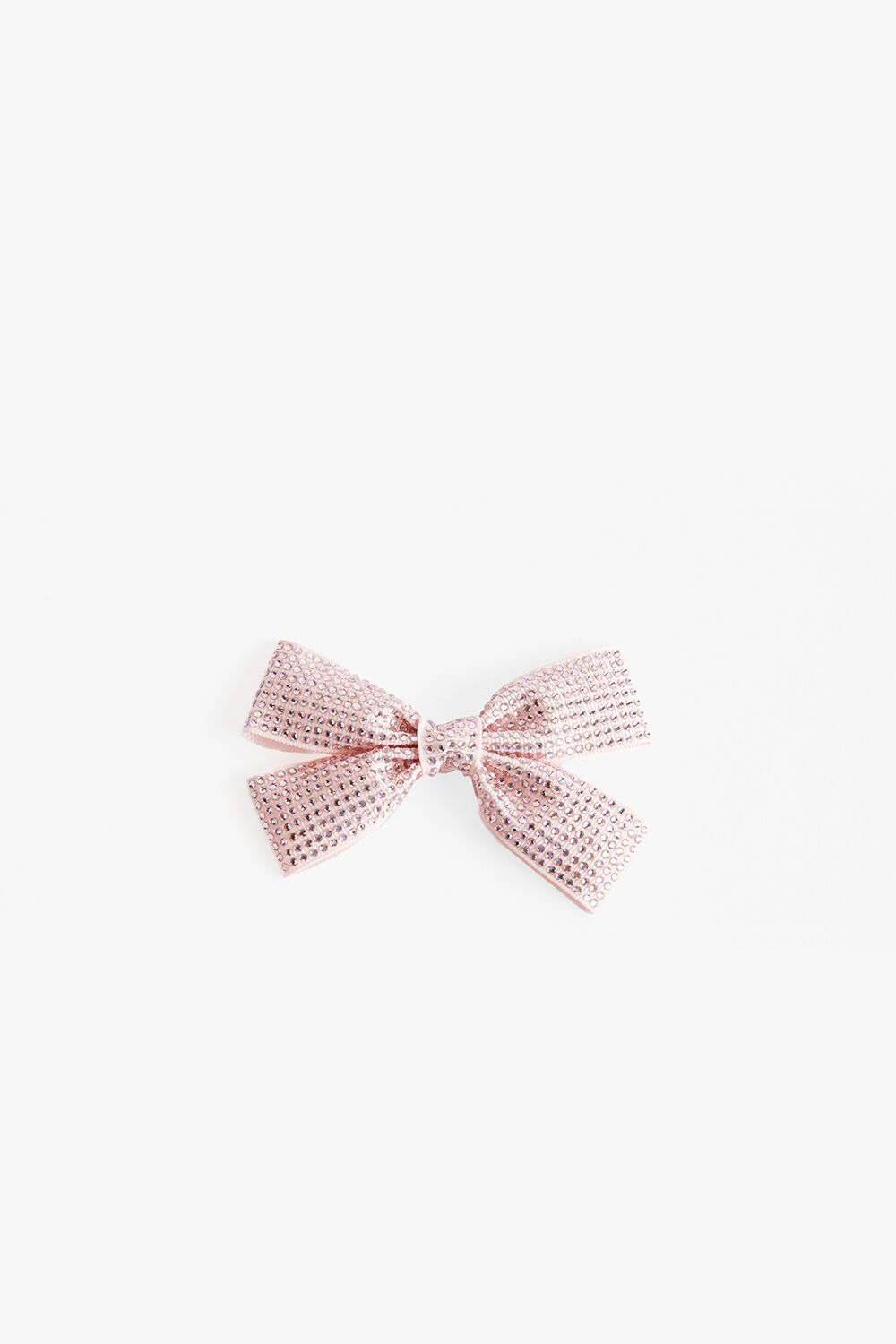 PINK DIAMANTE BOW in colour PARADISE PINK