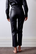 POLLY VEGAN LEATHER PANT in colour CAVIAR