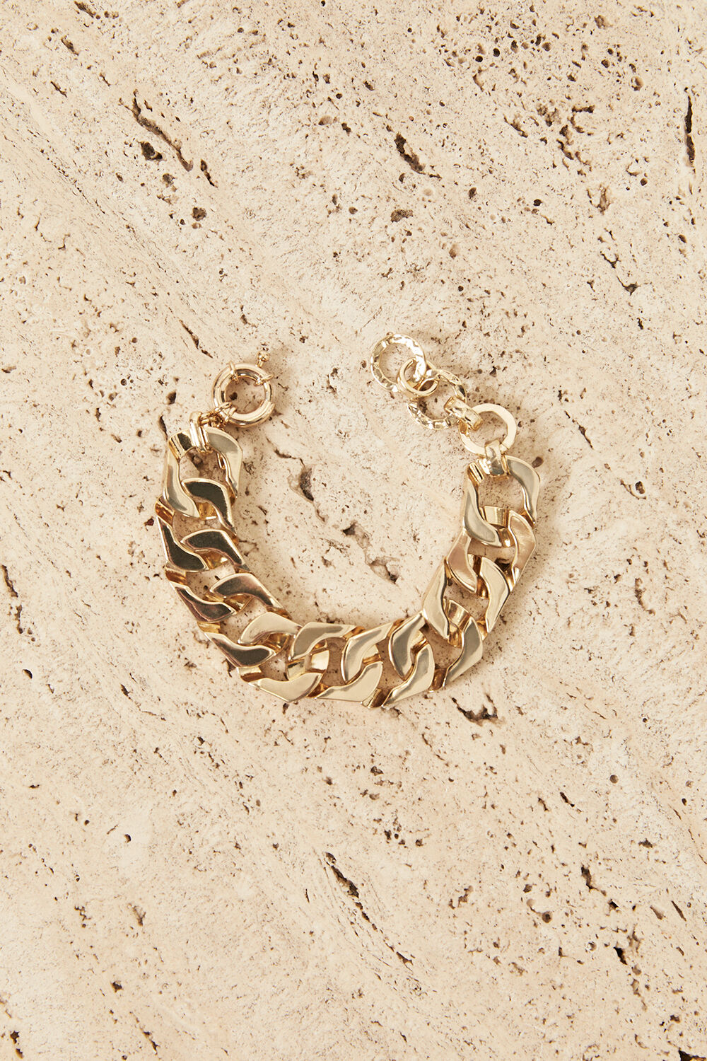 GOLD PLATED CHUNKY BRACELET  in colour GOLD EARTH