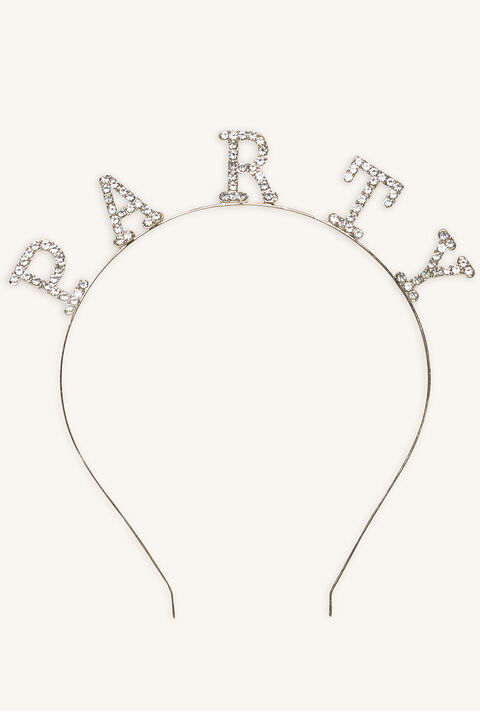 PARTY HEADBAND in colour SILVER