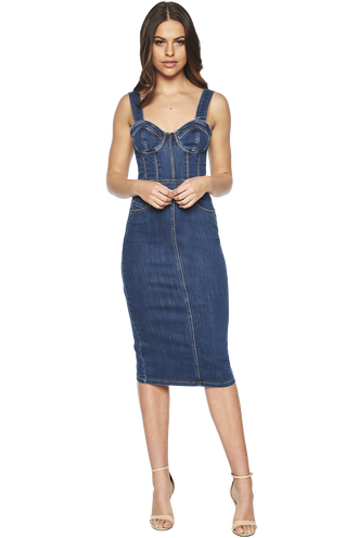 STELLA DENIM DRESS in colour CITADEL