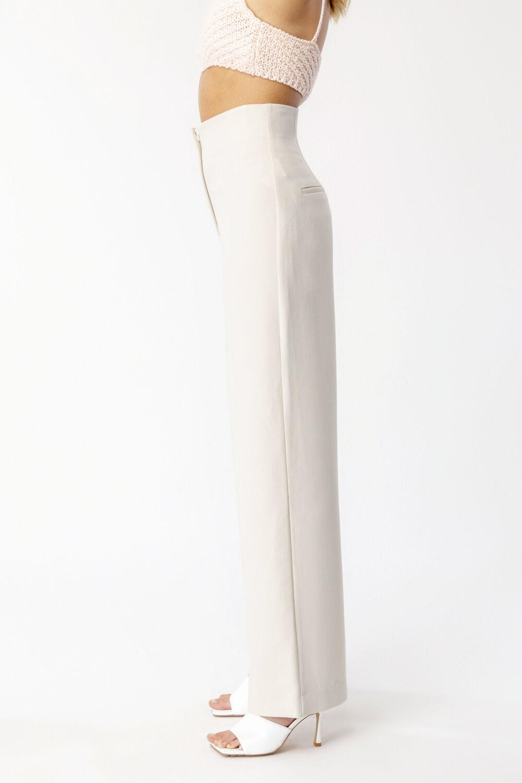 ANNA HIGH WAIST PANT in colour PINK TINT