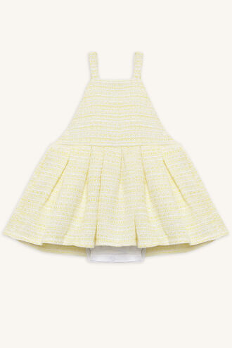 BOUCLE APRON GROW in colour PASTEL YELLOW