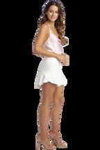 FAY FLUTTER MINI SKIRT in colour CLOUD DANCER