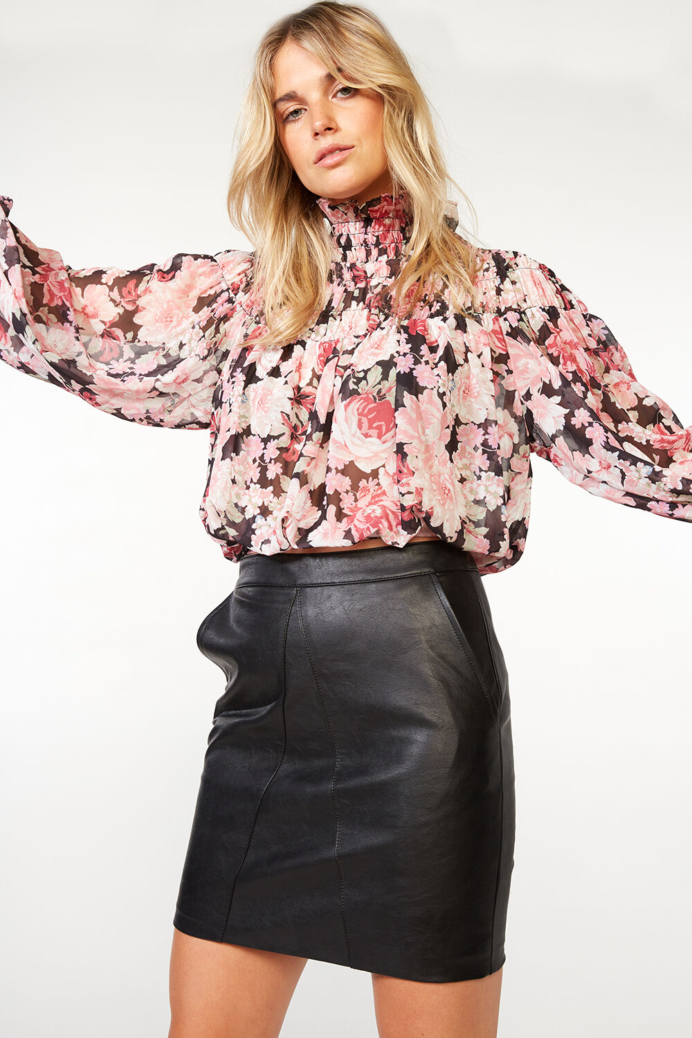 CYRUS TOP in colour SLATE ROSE