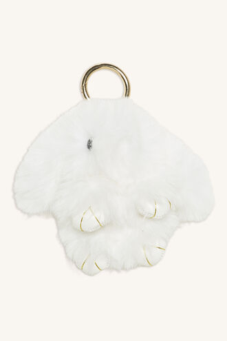 BUNNY KEYRING in colour WHITE ALYSSUM