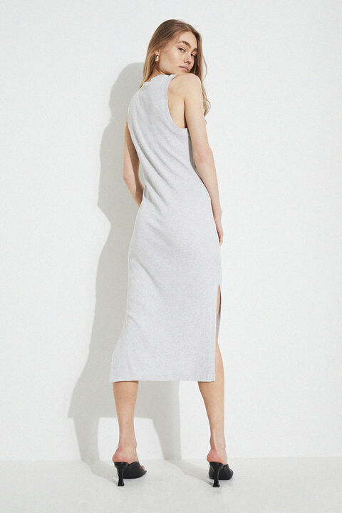 SEMRA BASIC DRESS in colour HIGH-RISE