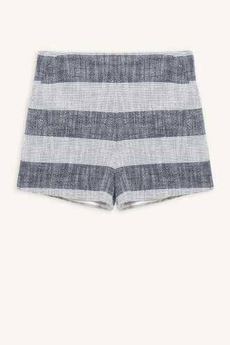 LEAH TEXTURED SHORT in colour ALMOND OIL