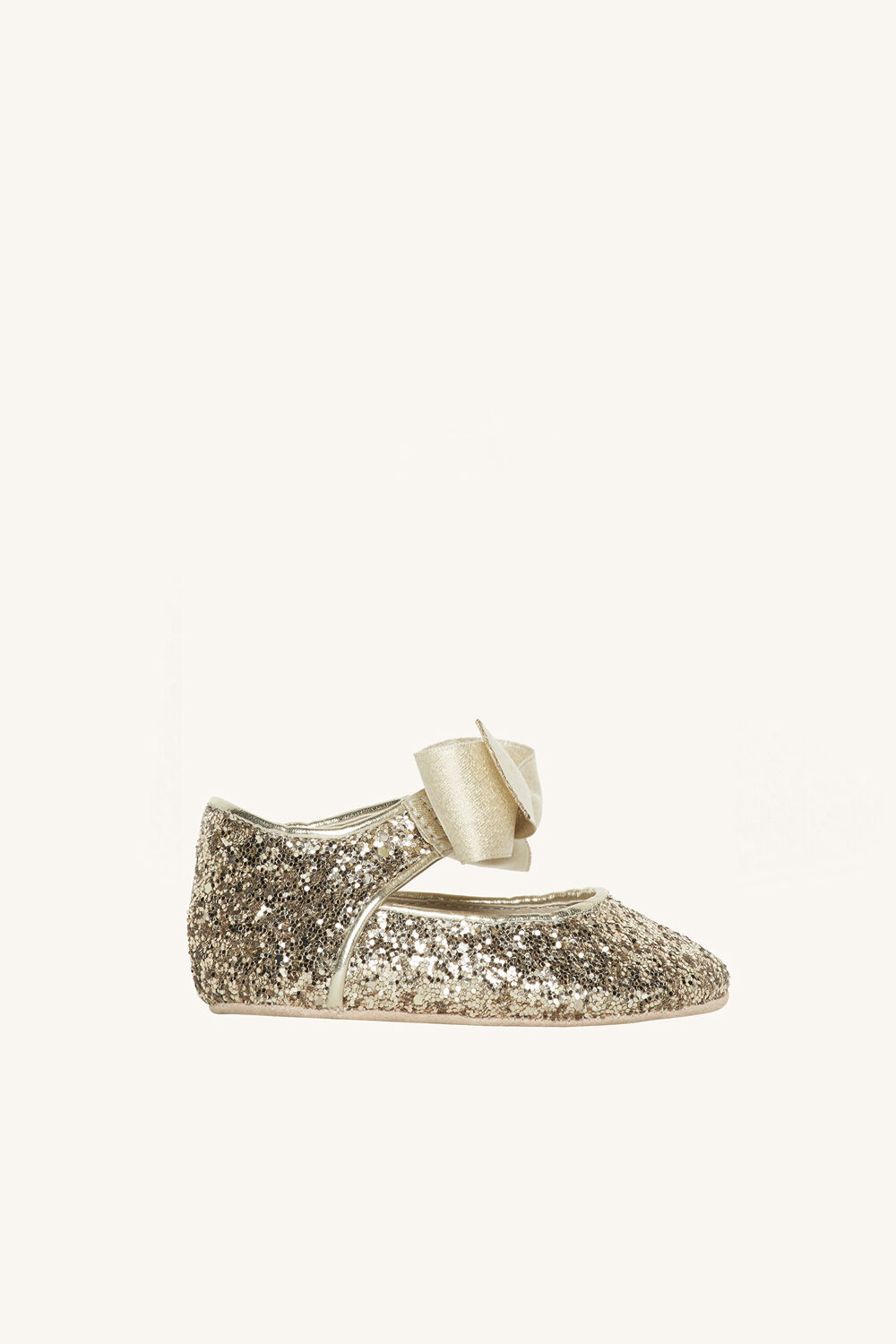 GLITTER BABY FLATS in colour GOLD EARTH