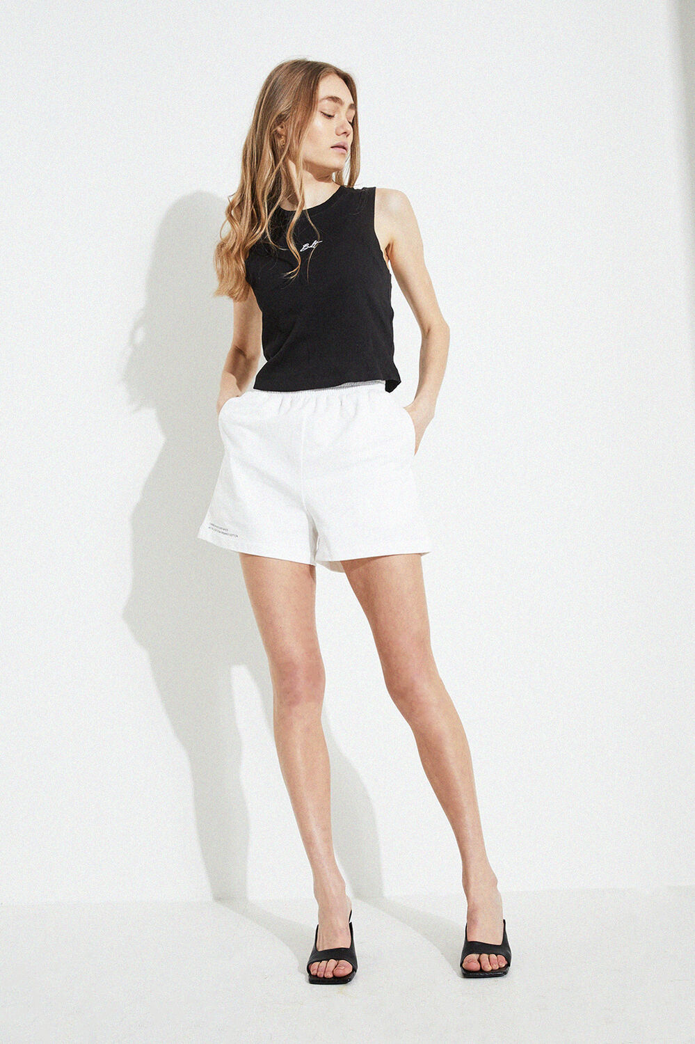 TRACK SHORTS in colour BRIGHT WHITE