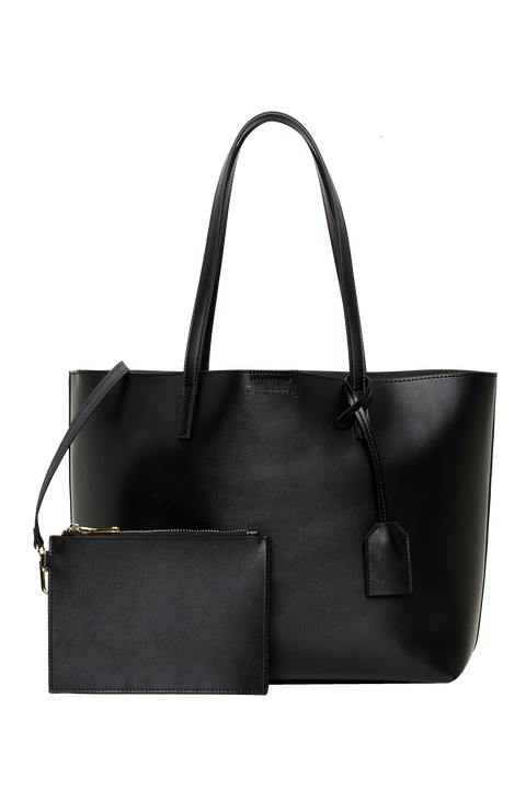 LEATHER TOTE BAG in colour METEORITE