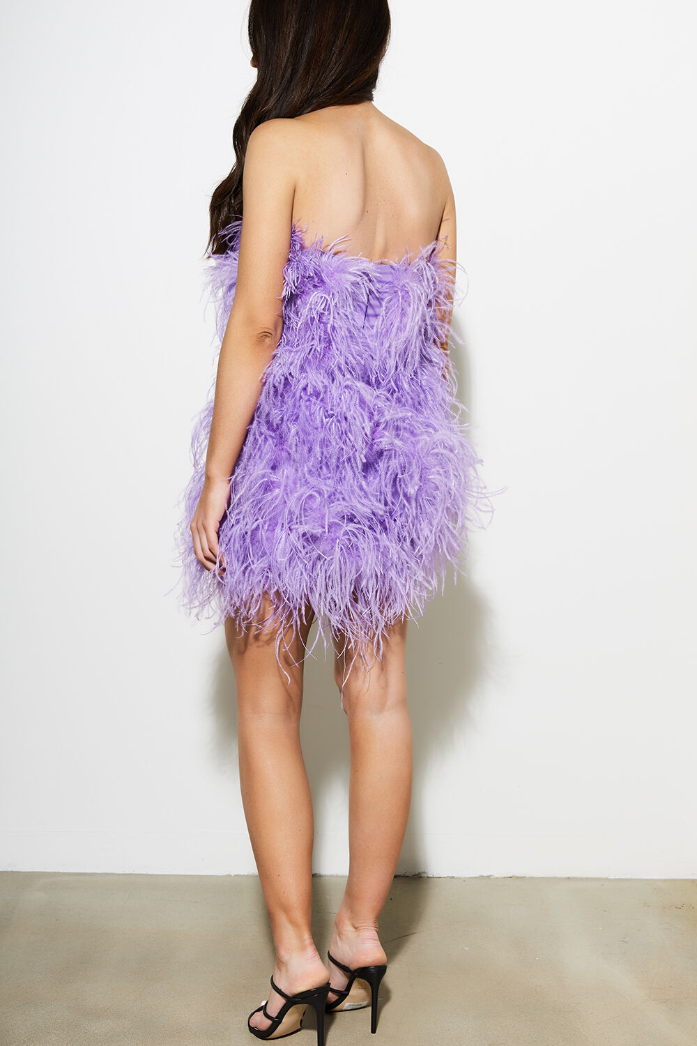 FEATHER DRESS in colour ORCHID BOUQUET