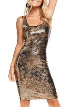 SEQUIN NEVE DRESS in colour CHAMPAGNE BEIGE