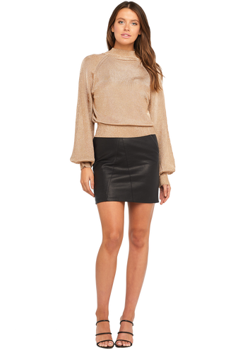 BELL SLV LUREX KNIT in colour CARAMEL