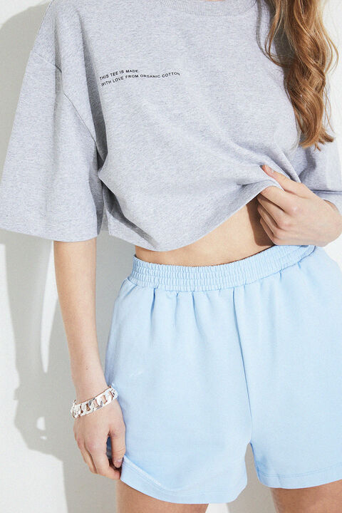 THE CROP TEE in colour HIGH-RISE