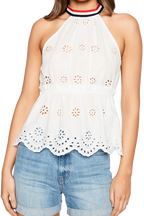 SPORT LACE TOP in colour CLOUD DANCER
