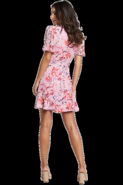 LORITA FLORAL DRESS in colour PRISM PINK