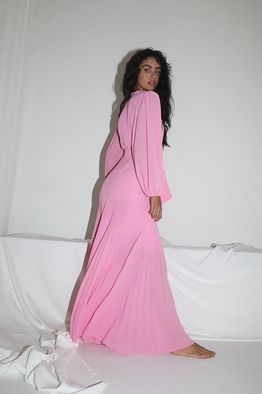 DAYTONA DRESS in colour BRANDIED APRICOT