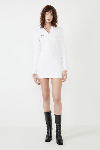 MARNIE COLLARED MINI DRESS in colour BRIGHT WHITE