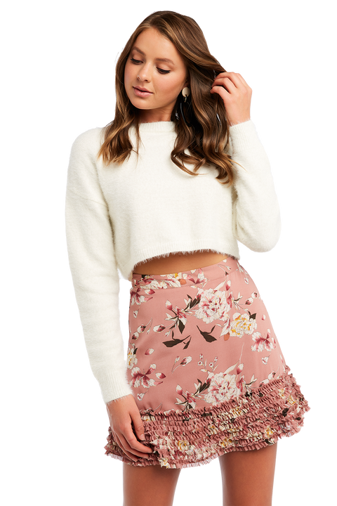 CROPPED FLUFFY KNIT