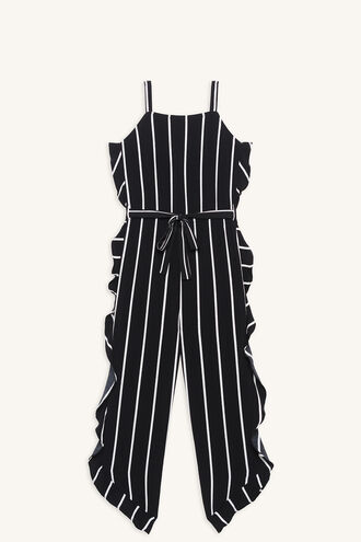 ARIA RUFFLE JUMPSUIT in colour BRIGHT WHITE