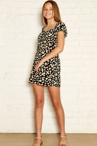 REESE MINI DRESS in colour CAVIAR