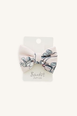 PINK FLORAL LARGE BOW CLIP in colour PINK CARNATION