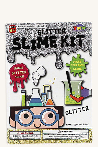 GLITTER SLIME MAKING KIT in colour BRIGHT WHITE