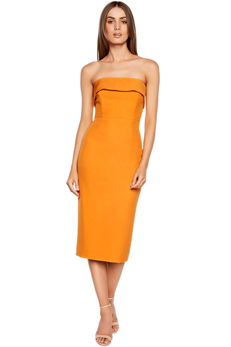 GEORGIA DRESS in colour FLAME