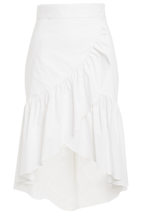 MIDI WRAP SKIRT in colour CLOUD DANCER