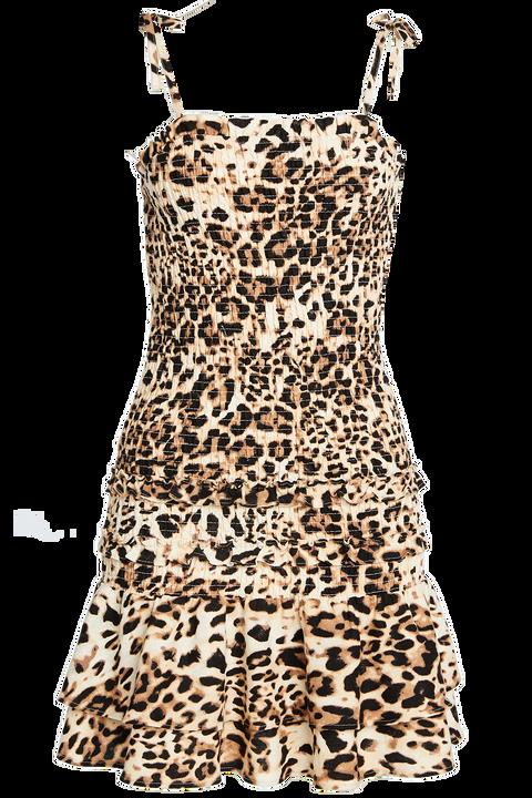 LEO SHIRRED DRESS in colour BUTTERUM