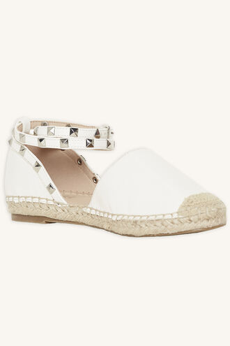 STUDDED ESPADRILLE SHOE in colour WHITE ALYSSUM