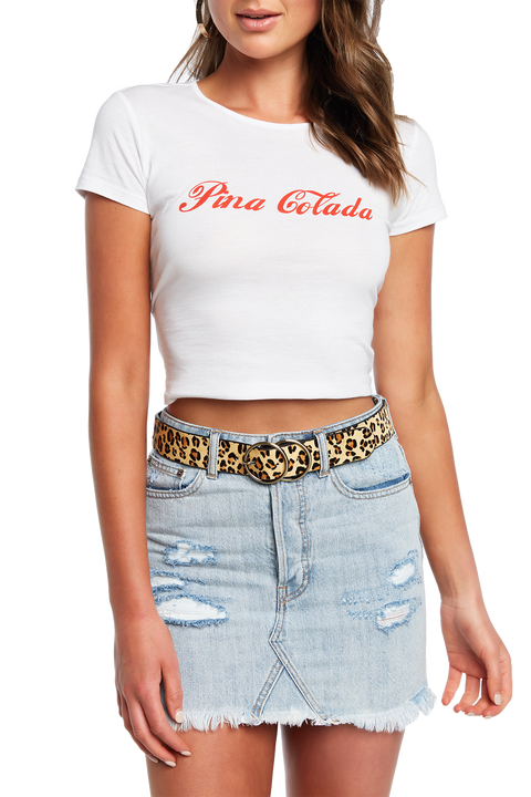 PINA COLADA TEE in colour BRIGHT WHITE