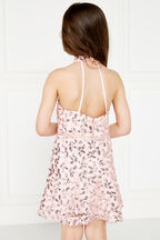 JUNIOR GIRL GEMMA HALTER DRESS   in colour POTPOURRI